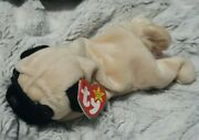 Ty Nwt Vintage Pugsly The Pug Beanie Baby 1996 Collectors Item