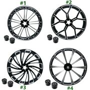 18and039and039 21and039and039 23and039and039 26and039and039 Front Wheel Rim Dual Disc Hub For Harley Touring 2008-2021