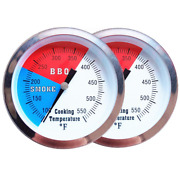 2 Pack Bbq Grill Temperature Gauge 3 Inch Heavy Duty Charcoal Grill Smoker Temp