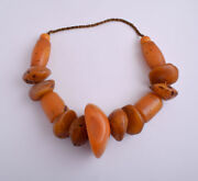 Large Antique African Moroccan Amber Beads Strands-resin-faux Amber- 600 Gram