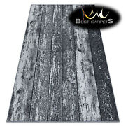 Non-slip Original Wall-to-wall Carpet Wood Plank Board Grey Rugs Any Size
