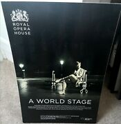 Royal Opera House World Stage Rupert Pennefather Very Rare Mounted Poster