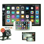 7 Double 2 Din Car Mp5 Player Bluetooth Touch Screen Stereo Radio W/ Camera