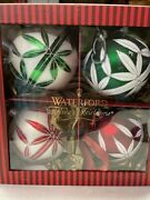Waterford Christmas Ornaments Set Of 4