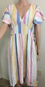 Sundress Hi-lo Ana Stripes Size Xxl New With Tags Multicolor Womens