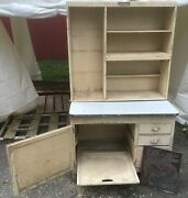 Antique Hoosier Kitchen Cabinet For Restoration Sold By Mcdougall Pretty Solid