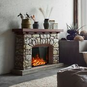 Electric Fireplace Heater Home Hot Flameless Wall Mounted 3d Remote Control 26in