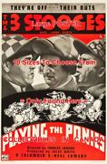 3 Three Stooges 1937 Playing The Ponies Jockey Horse =poster 10 Sizes 17-4.5 Ft