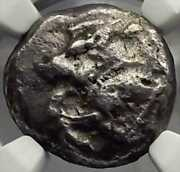 Gold Coin Silver Antique Coins Lycia Dynast Alkaik 500bc Statel Boar Greek