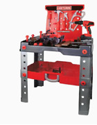 Work Bench And Tool Set Toy Craftsman New 53 Pieces Ages 3+ Power Drill Hammer