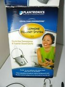 Plantronics S12 Telephone Hands Free Headset System With Firefly Noise Canceling