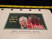 1940s Coca-cola Salesman Advertising For Sprite Boy Serve Coke Home Sign 2 Sided