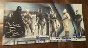 Dave Prowse Jeremy Bulloch Hargreaves Parsons Harris 10x20 Signed Star Wars K9