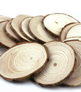 Natural Wood Slices 3-3.5 Inch 20 Pcs With Tree Bark Circles Log Discs For Craft