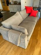 2 X 3 Seater Sofaand039s And Foot Stool - French Grey Sofa Workshop