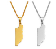 Gold Platinum Plated Necklace Belize Map Pendant Gifts Trendy Fashion Jewelry