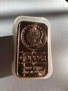 Mint Capsule Of 20 Morgan Dollar 1 Avdp Oz Copper Bars Bu Sealed From Mint