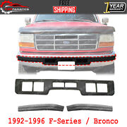 Front Bumper Center And Side Molding Plastic For 1992-1996 F-series / Bronco
