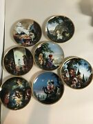 Lot Of 7 Beautiful Precious Moments Bible Story Plates Mint Condition 1991- 1992