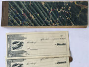 Antique 1890and039s Promissory Note Book Unused Great Eagle Graphics Marbled Covers
