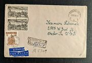 1958 Bialystok Poland Registered Airmail Cover To Chester Pa Usa