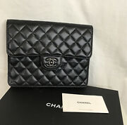 Clutch Petite Maroquinerie Black Quilted Clutch New With Box Gift Version