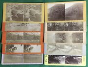 Lot Of 10 Vintage Nh Stereopticon Stereo Cards White Mountains Old Man