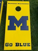 Michigan Wolverines Home Made Wood Corn Hole Toss Game Free Local Pickup Only