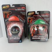 Nerf Firevision Sports Green+red Glowing Lights Out Game On Glasses And Hyper Ball