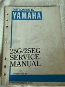 Used Outboards By Yamaha 25g/25eg Service Manual Lit-18616-00-28