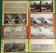 Lot Of 8 Vintage Stereopticon Stereo Cards N.y. City Vermont Potomac D.c. And More