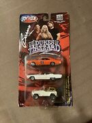 Signed 1/64 Joy Ride The Dukes Of Hazzard 3 Car Set Charger Chargercadillacjeep