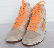 Nike 543257-200 Womens High Dunk Sky High Vntg Athletic Wedge Sneakers Sz 8