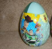 New 2 Disney Pixar Toy Story Surprise Egg W Candy Woody Buzz Easter 3.75oz