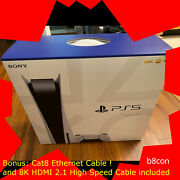 Sony Playstation 5 Console Disc Version Ps5, 8k Hdmi, Cat8 Ethernet 🔥in Hand🔥