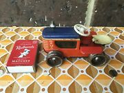 Vintage Gama Tinplate Lithographed Windup Crawler Tractor Made In Germany1950's