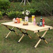 Wooden Outdoor Folding Picnic Table Foldable Outdoor Camp Travel With Free Bag