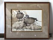 Sherrie Russell Cinnamon Teal Ducks Limited Edition Print Signed Numbered 1985