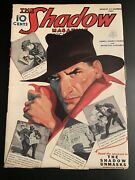 Vintage Shadow Pulp Aug 1 1937 The Shadow Unmasks Walter Gibson Rare