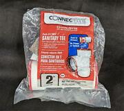 Connectite Push Fit Dwv Sanitary Tee 2 Drain Waste Vent Ctt400 New 1163