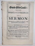 1692 Antique Sermon To Army And Navy Military Rev Civil Revolutionary War 1st-ed