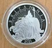 2021 Uk Great Britain 1 Oz Proof Silver Britannia Lion Royal Mint W/ogp In Stock