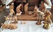 Anri Nativity Figurines 16 With Anri Stable 17 Total Vintage Italy
