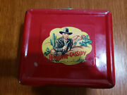 1950 Hopalong Cassidy Lunch Box, Nice Thermos With Original Cork
