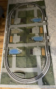 Vintage 1964 Ac Gilbert Company American Flyer 8 Panel Model Train Layout -as Is