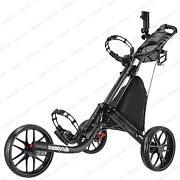 Caddytek Ez-fold 3 Wheel Golf Push Cart Golf Trolley --dark Grey New