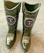 Ronald Reagan Presidential Seal Western Boots /12 Inch Dolls/collectibles/rare
