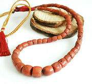 Antique Yemen Natural Authentic Red Coral Beads Necklace Coral Necklace