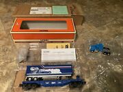 Lionel 6-52168 Carail Flatcar With Trailer And Lionel Tractor Cab