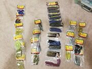 Vic Coomer Coomers Lot Of 27 Packs Bass Fishing Lures Soft Plastics Ohio Made